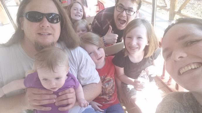 Zoo Train Family Selfie