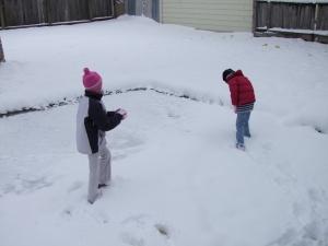 Big Girls in Snow